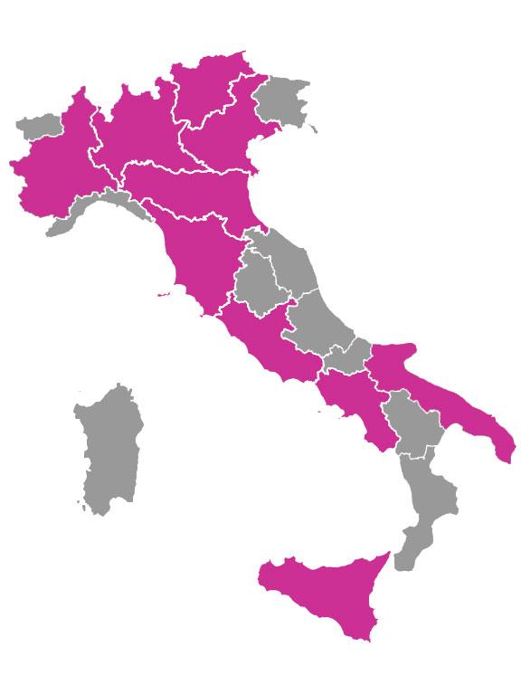 cartina italia con puglia